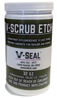 V-SCRUB ETCH 32 OZ Acidic Cleaner and Etch for Reacted Stains and Surface Preparation