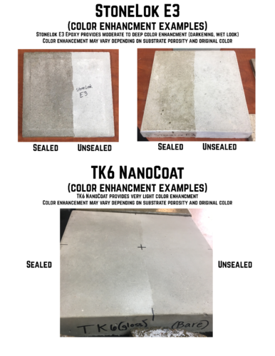 concrete countertop sealing kits